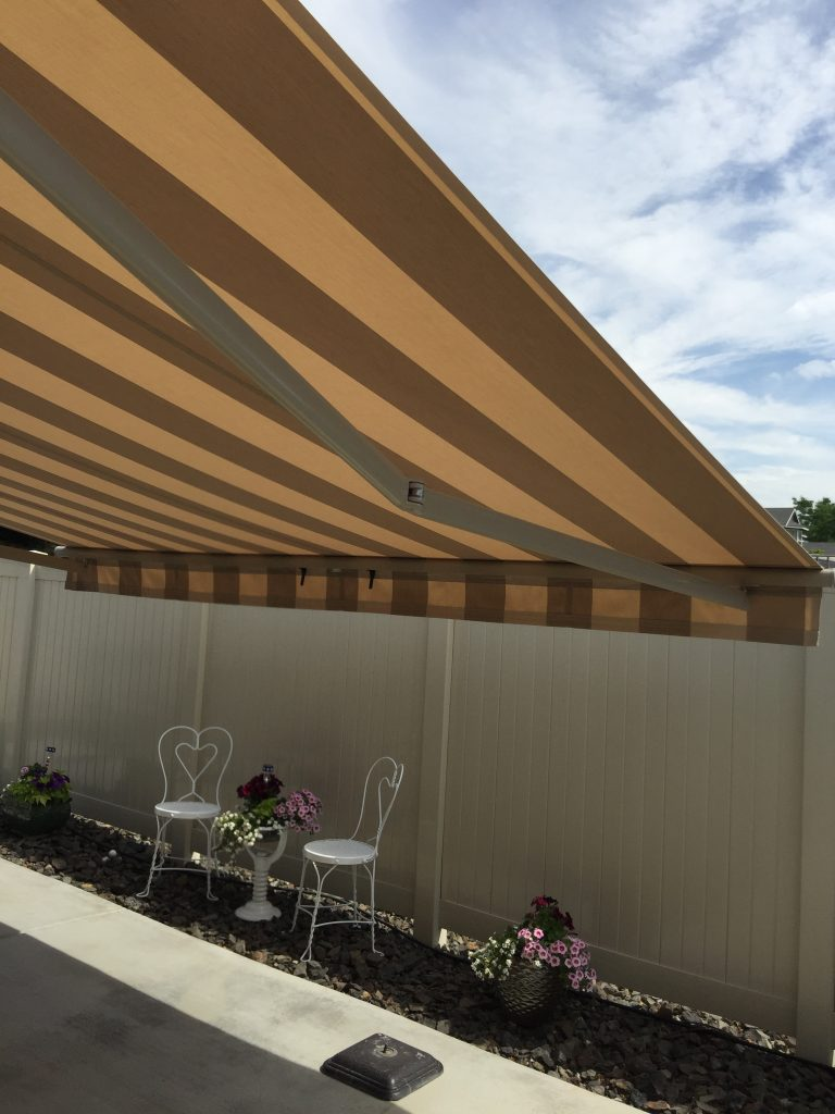 Retractable Awning With Pitch Control Northwest Shade Co